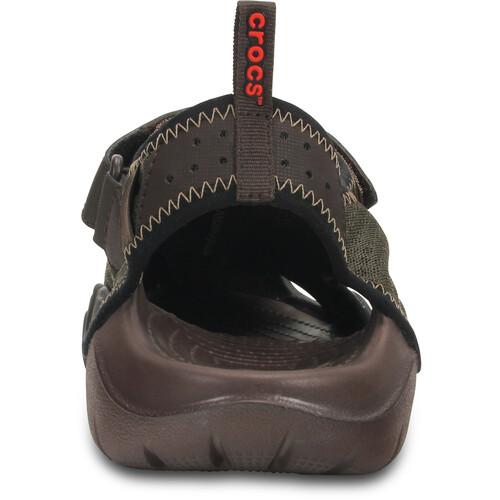 Crocs Swiftwater - Sandales Homme - olive sur campz.fr ! Coût Pas Cher Vente Chaude Rabais Prix Très Pas Cher unisexe nWaBx42iV
